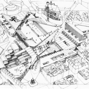 1980 – Parigi, Controprogetto per les Halles, consultation international pour l'aménagement du quartiere des Halles