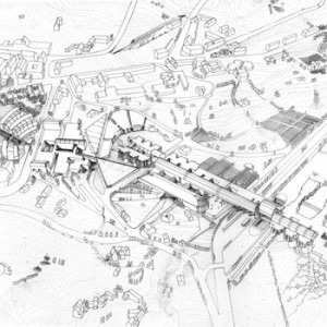 1984 – Potenza, Planovolumetrico dell'Università della Basilicata a Macchia Romana