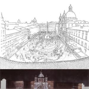 1992 – Roma, sistemazione di Piazza Navona