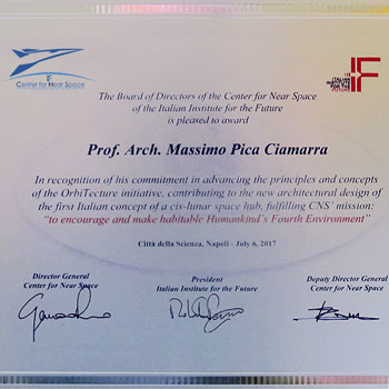 Award 2017 – Italian Institute for the future / Center of Near Space